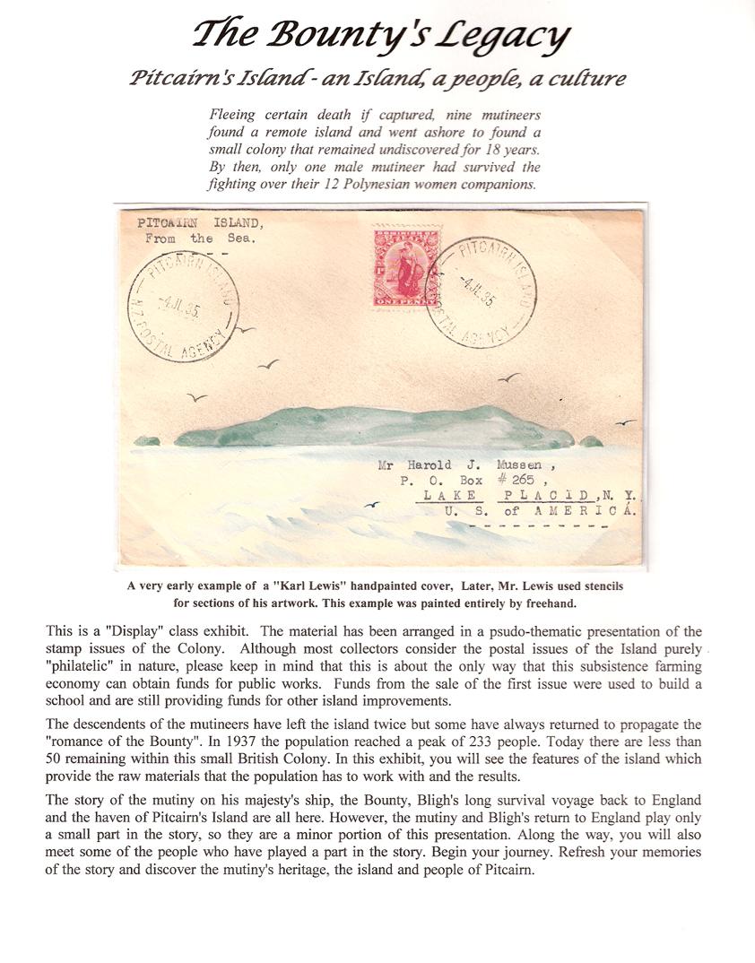 The Bounty's Legacy - Pitcairn's Island - an Island, a people, a culture