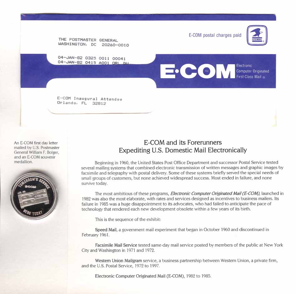 E-COM and its forerunners - Expediting U.S. Domestic Mail Electronically