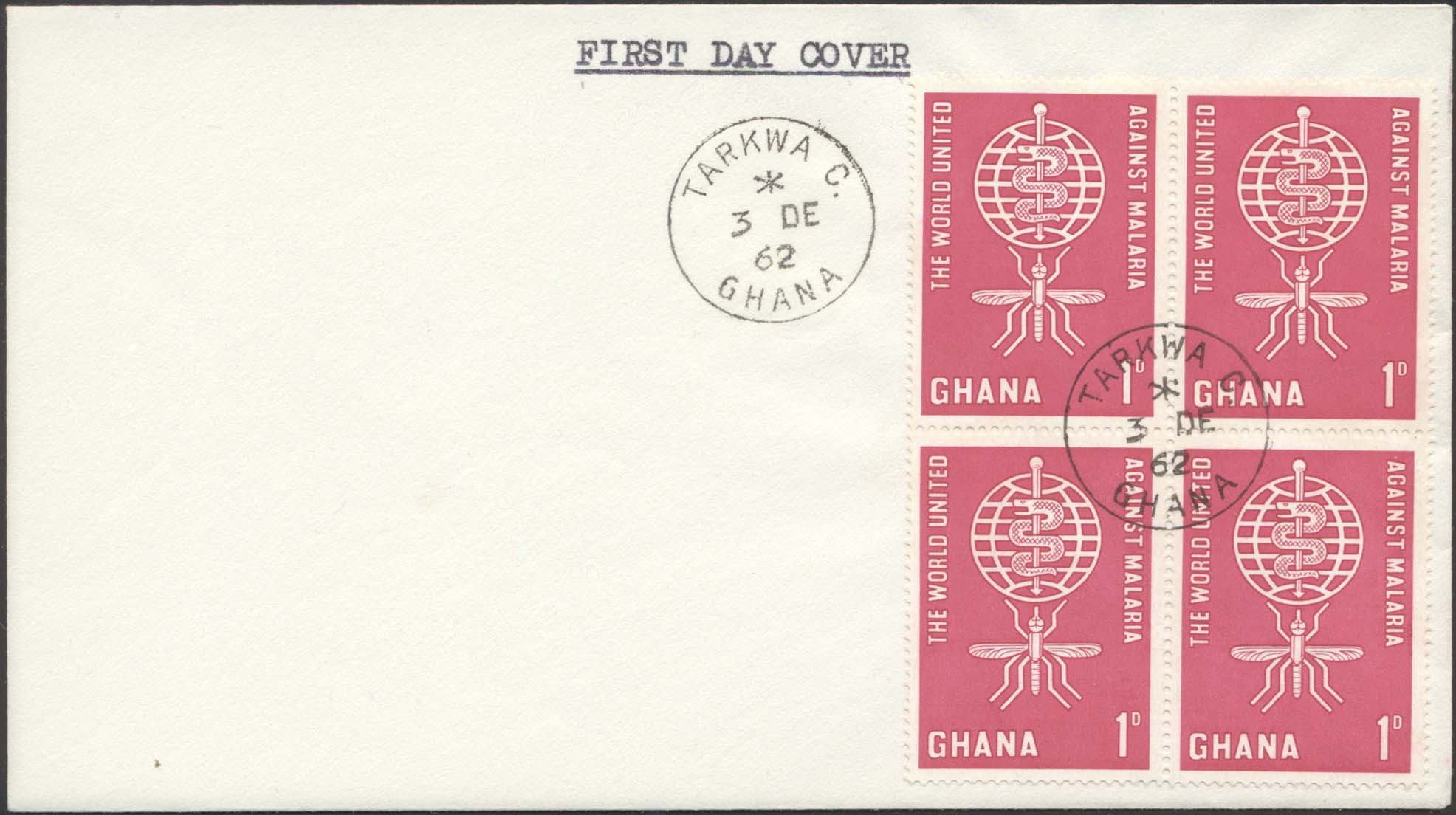 Scott 128 (FDC w/ No Cachet)(December 3, 1962)(Tarkwa C)