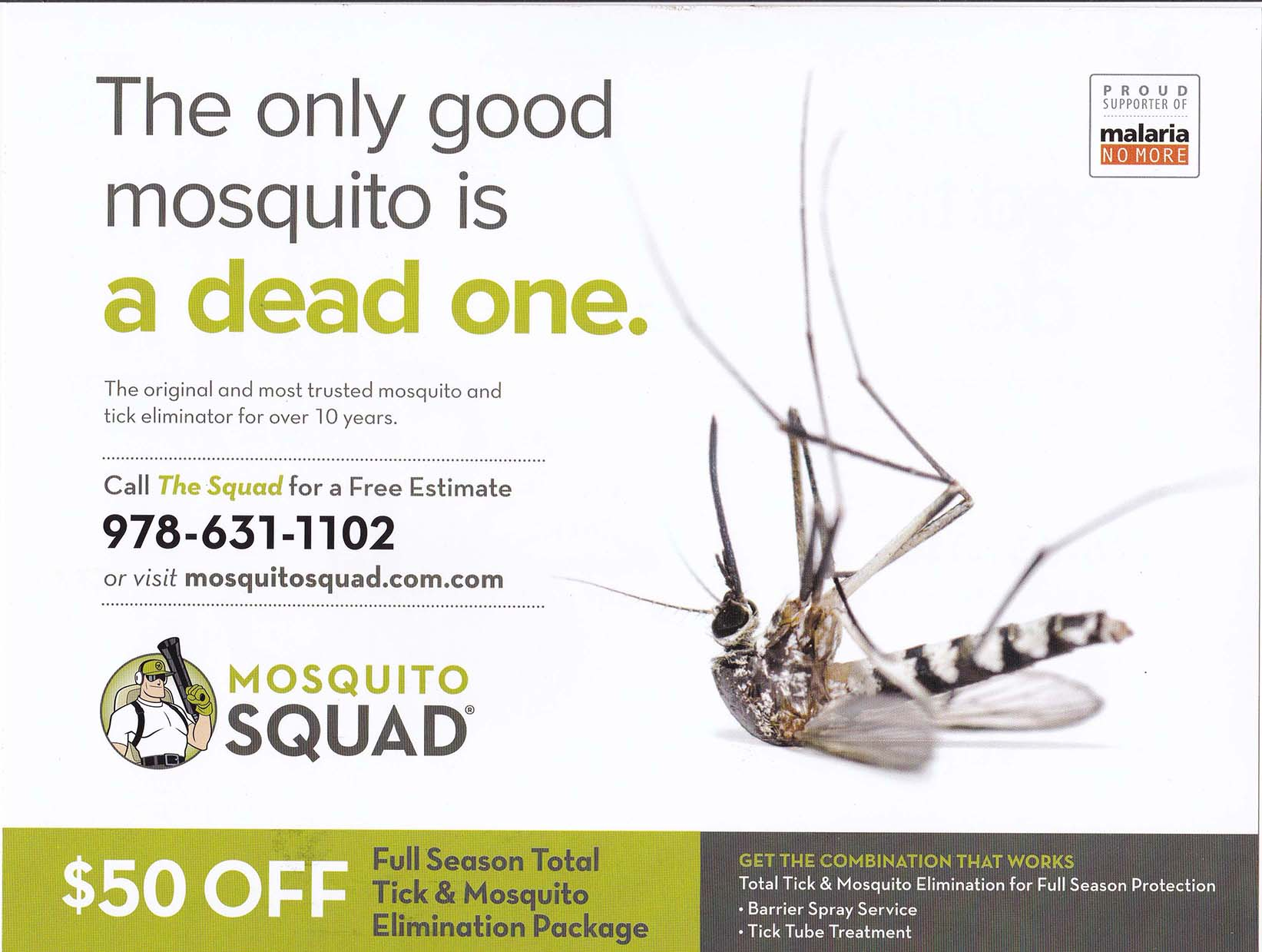 Mosquito Squad - Summer 2016 - Mailing 2 - Side 1
