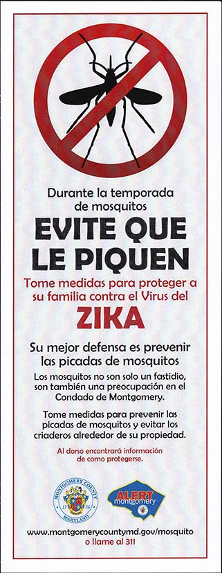 Fight The Bite, Zika Handout, Spanish - Side 1