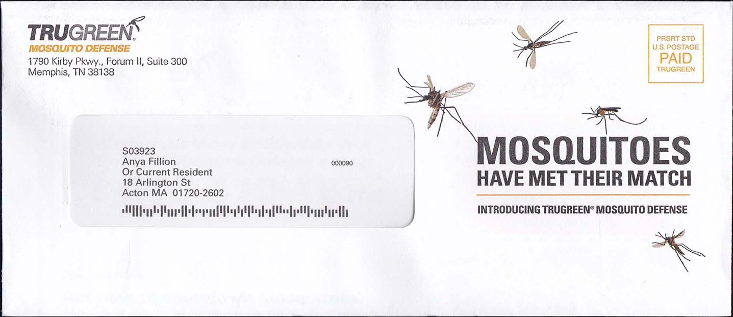 Truegreen Mosquito Service May Advertisment