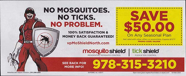 Valpak Insert - Mosquito Shield - April 2017 - Side 1
