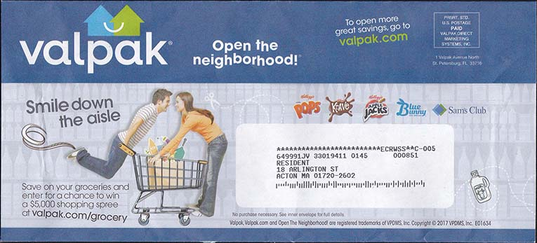 Valpak Envelope - May 2017 - Front