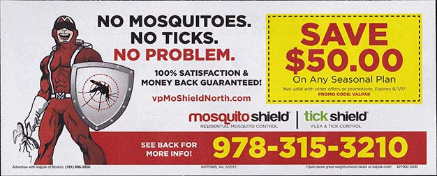 Valpak Insert - Mosquito Shield - May 2017 - Side 1