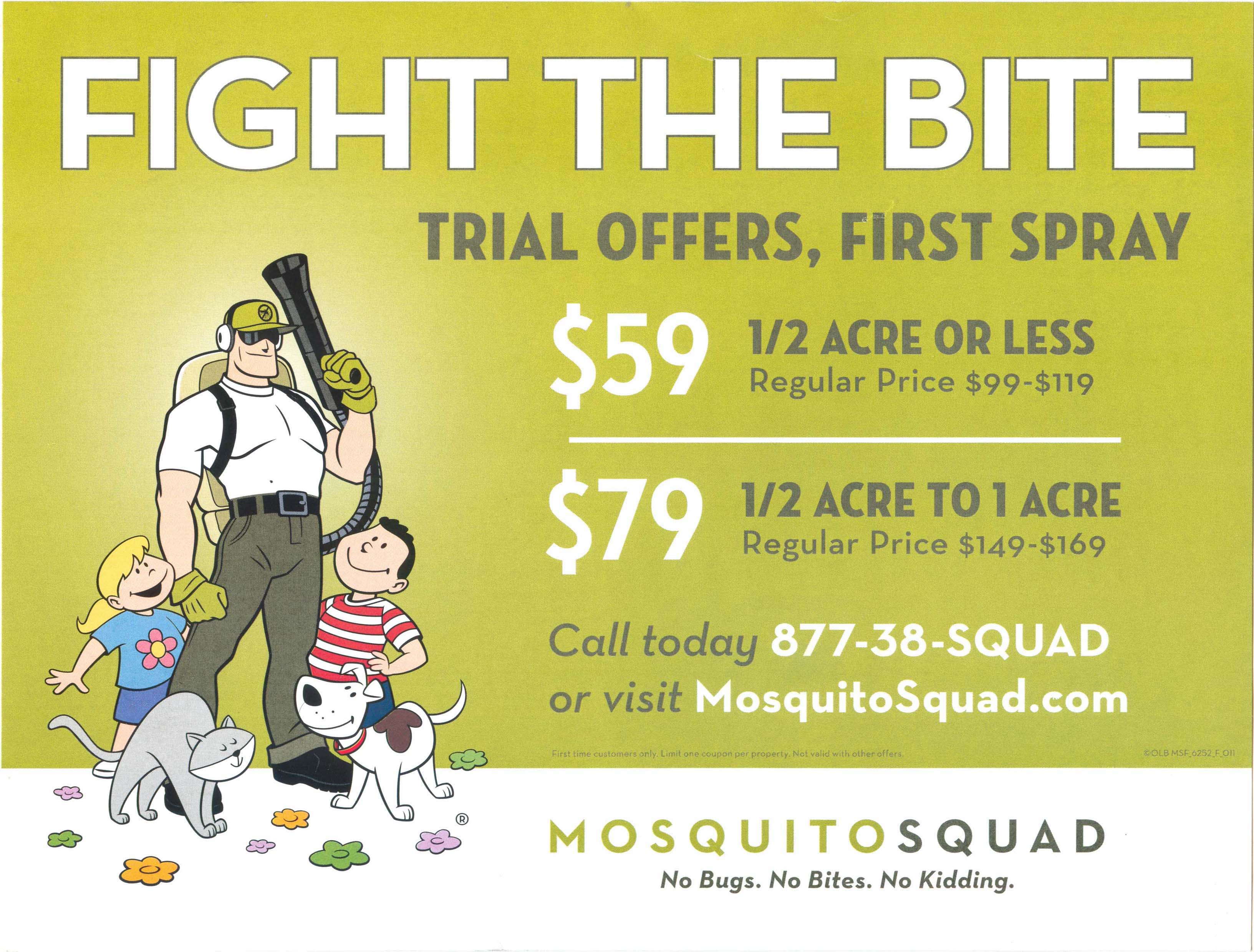 Mosquito Squad Oversized Post Card 2013 - Front