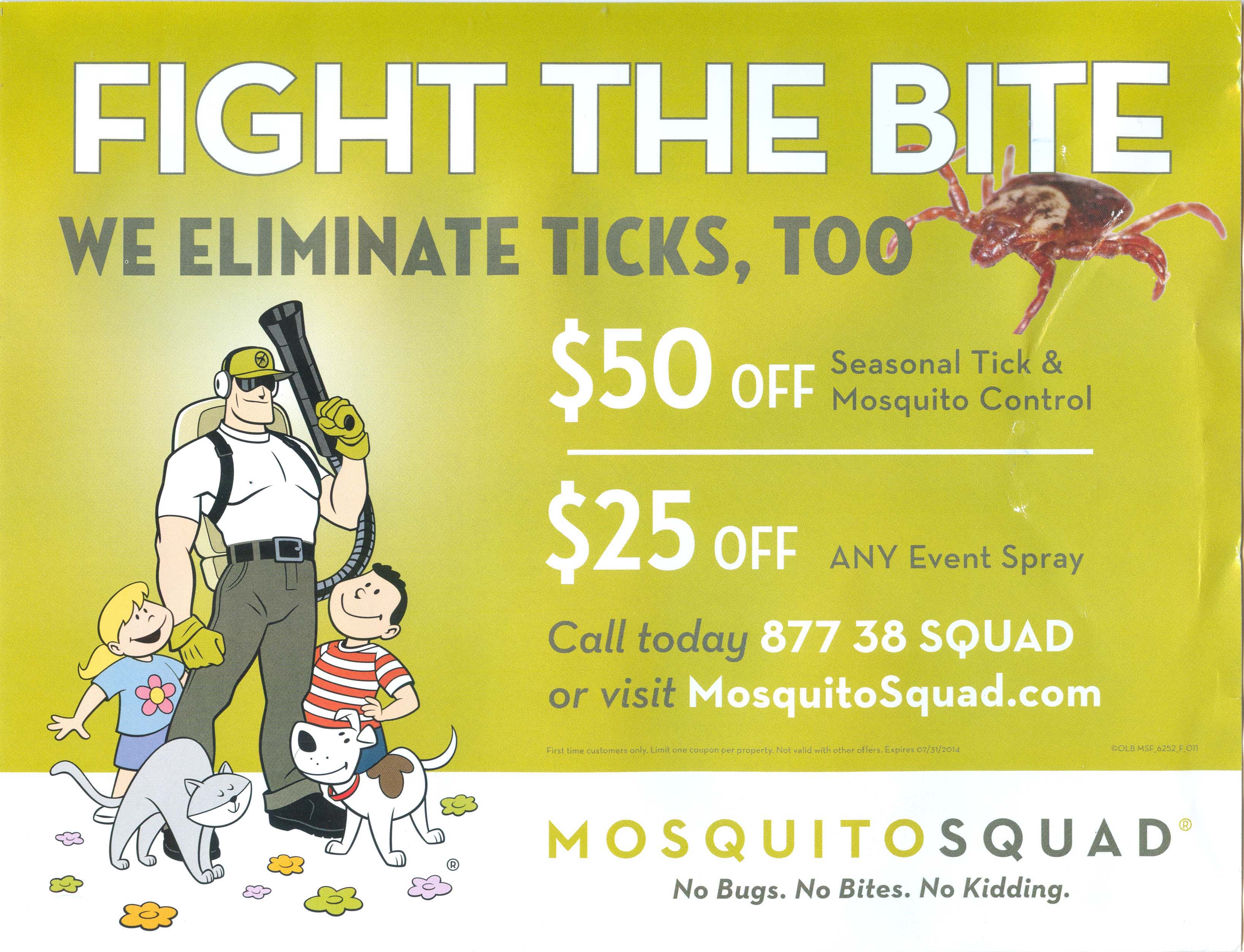 Mosquito Squad Oversized Post Card 2014 - Front