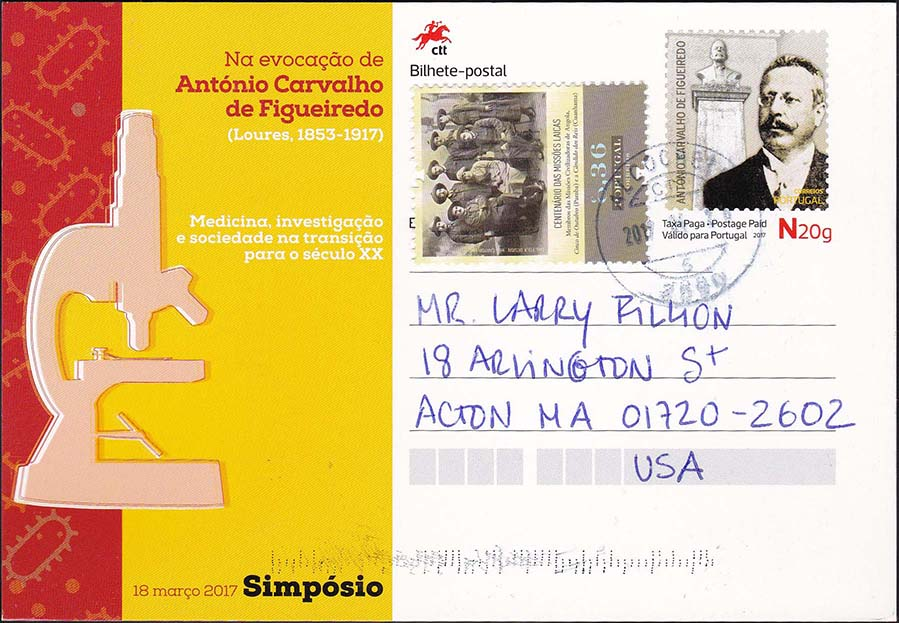 Portugal Figueiredo Postal Card Sent To The United States