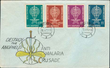 Albania Scott 609-612 FDC - Produced By Ulrich
