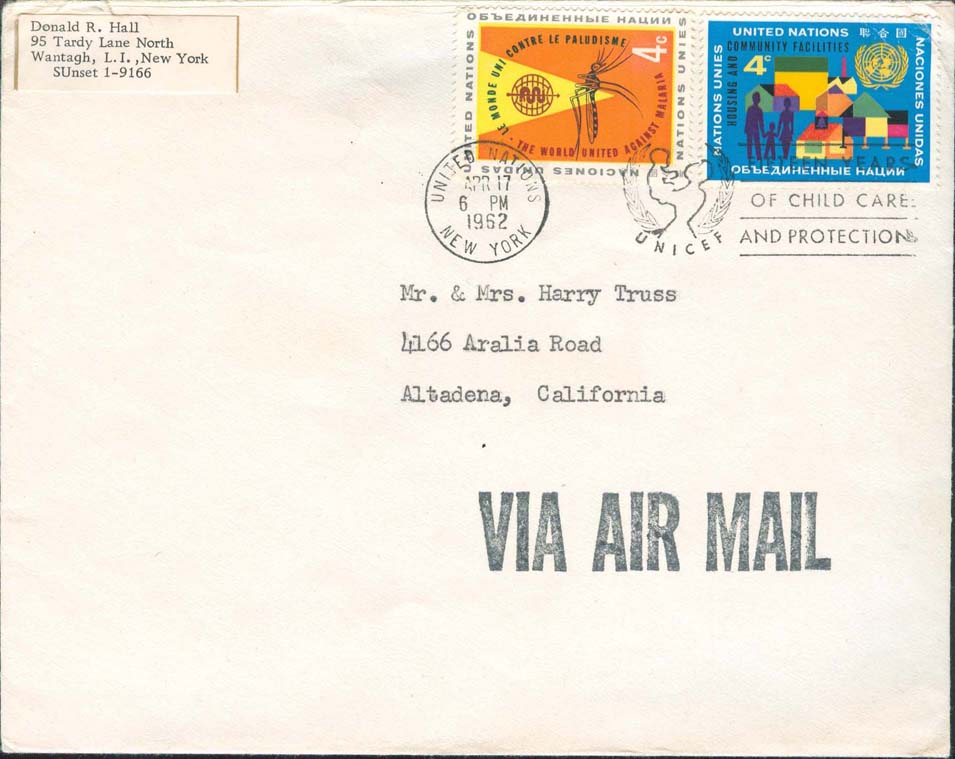 Airmail Rate: August 1, 1958 till January 6, 1963