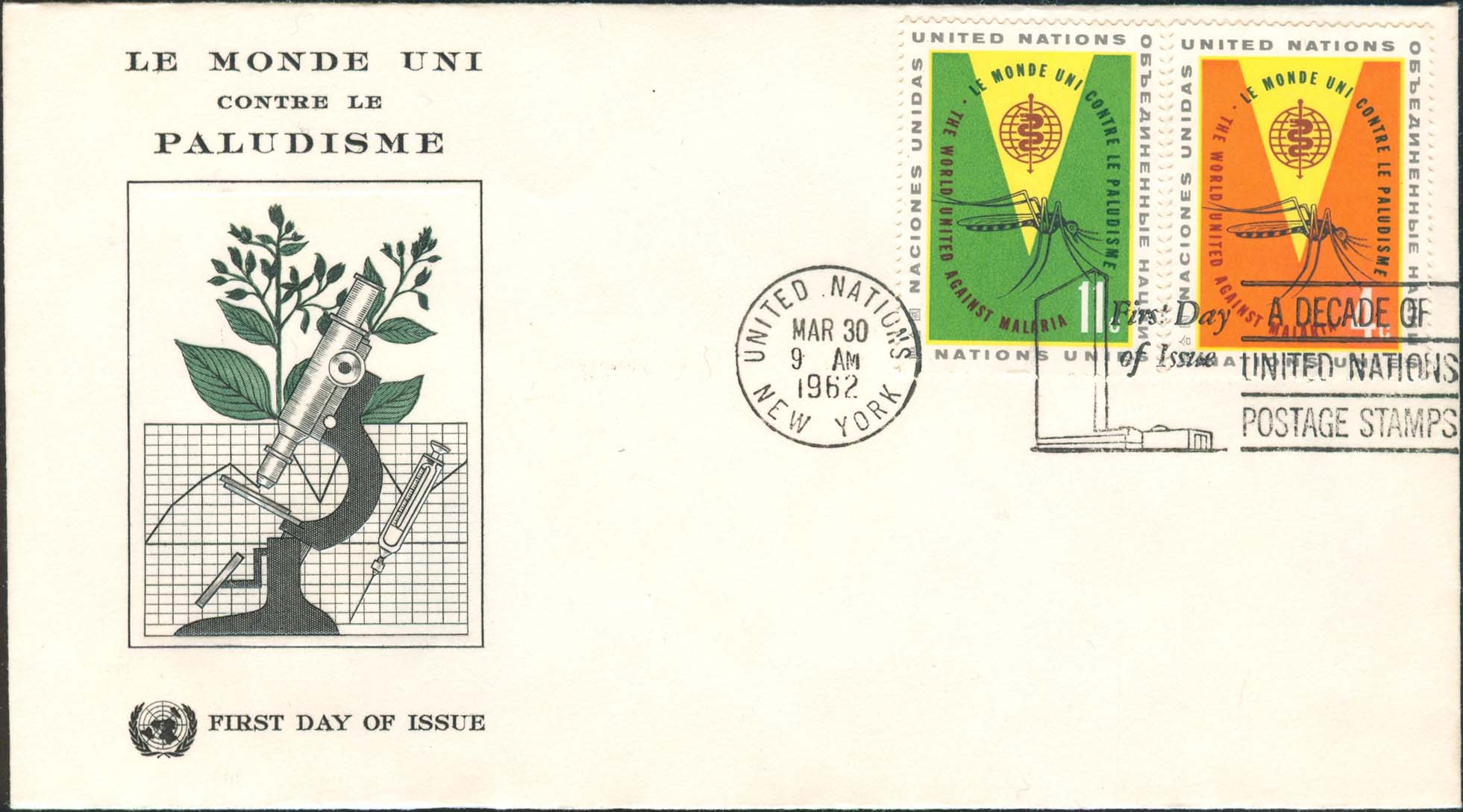 Scott 102-103 UNPA FDC With Gaines Hand Cancel M5C