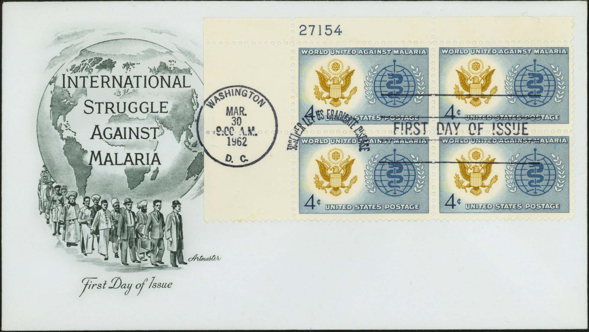 United States Scott 1194 On FDC With Artmaster Cachet (Plate Block 21754 Upper Left)