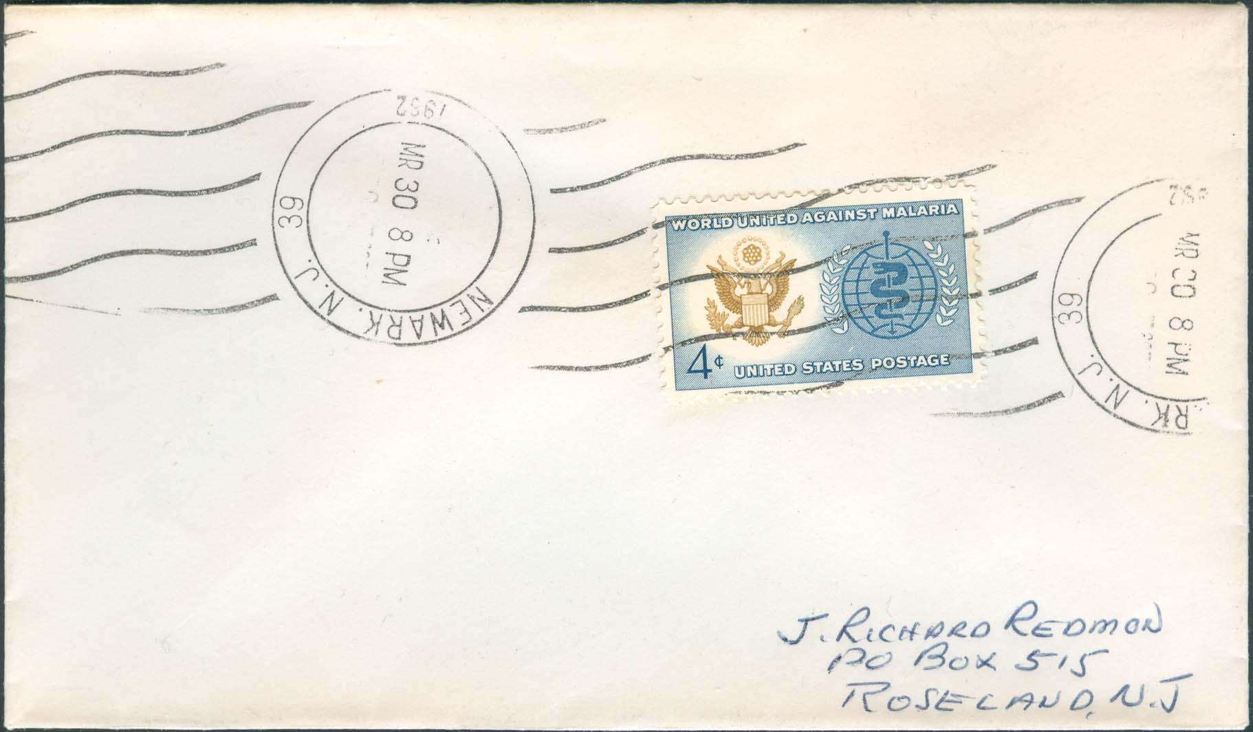 U.S. Scott 1194 FDC with New Jersey Cancellation