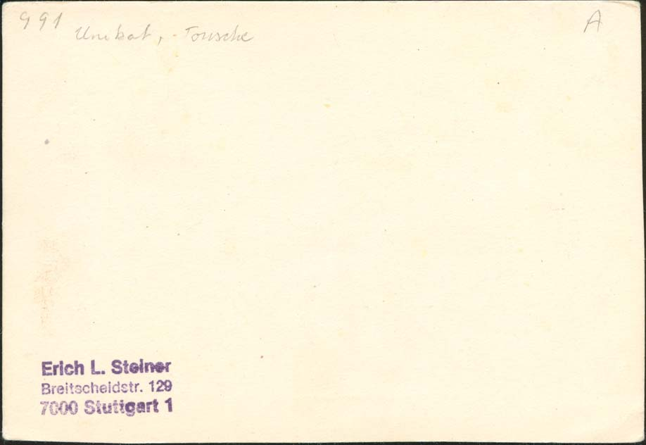 Hand-drawn FDC by Erich L. Steiner (back)