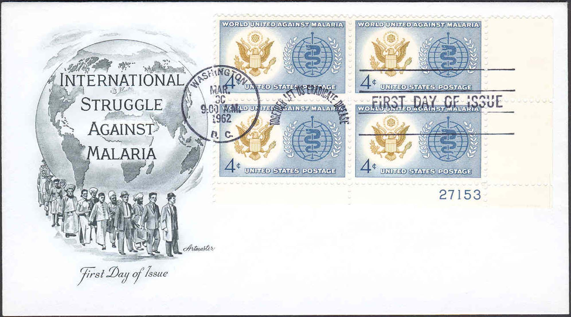 United States Scott 1194 On FDC With Artmaster Cachet (Plate Block 21753 Lower Left)