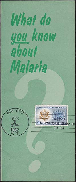 United States Scott 1194 on Malaria Pamphlet - 2nd Day