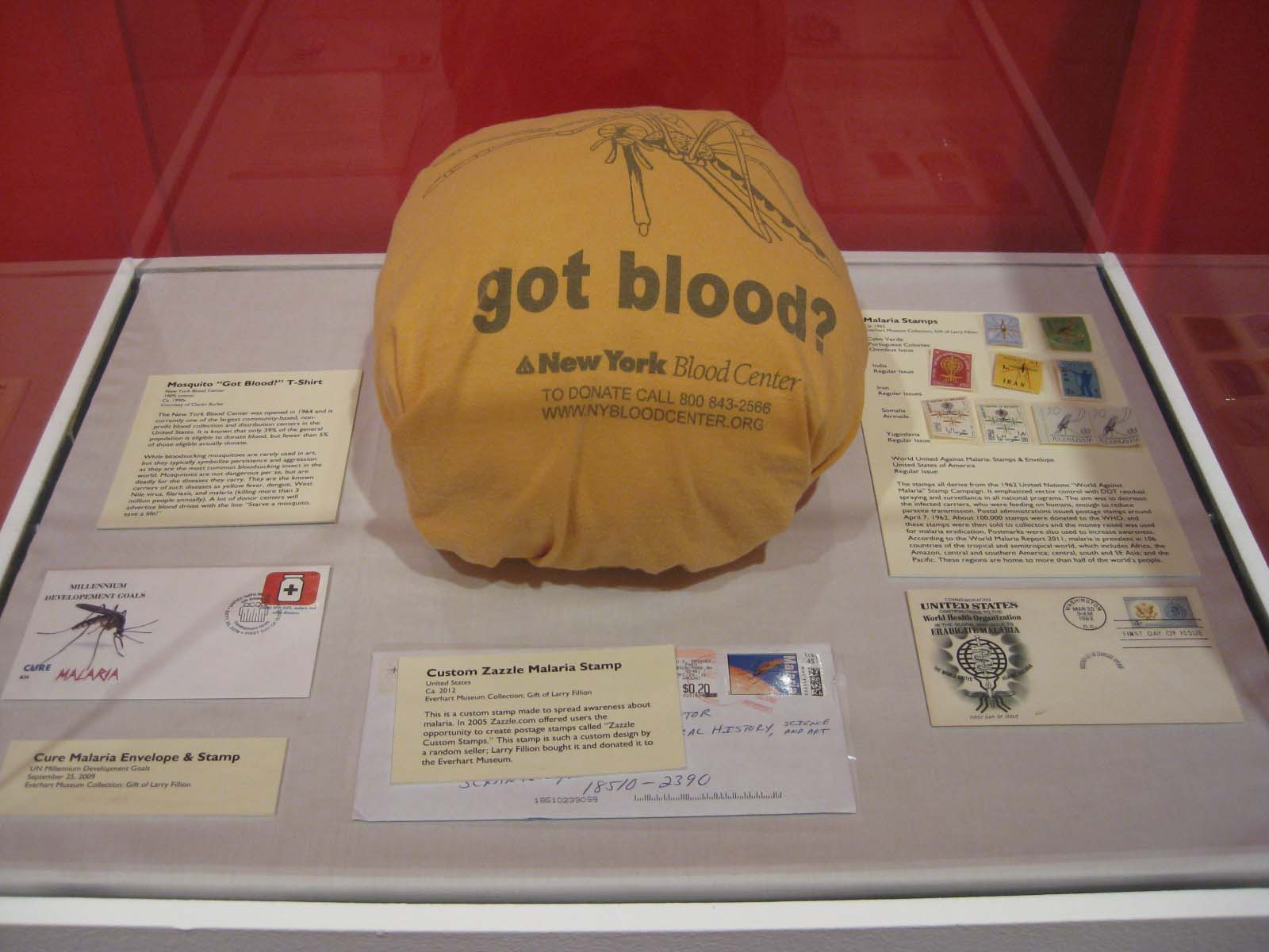 Donated stamps and covers to the The Blood is the Life - Vampires in Art and Nature Exhibit